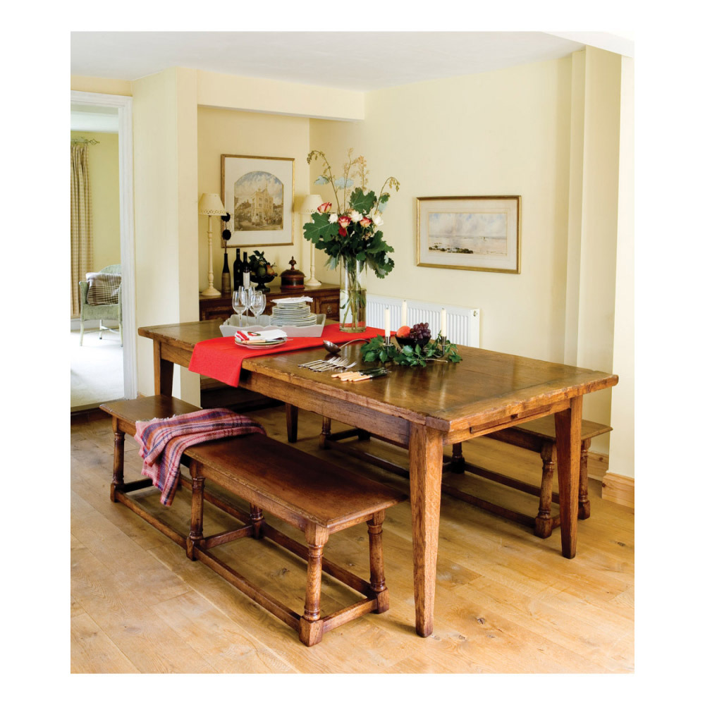 Oak Farmhouse Dining Table Farmhouse Kitchen Table