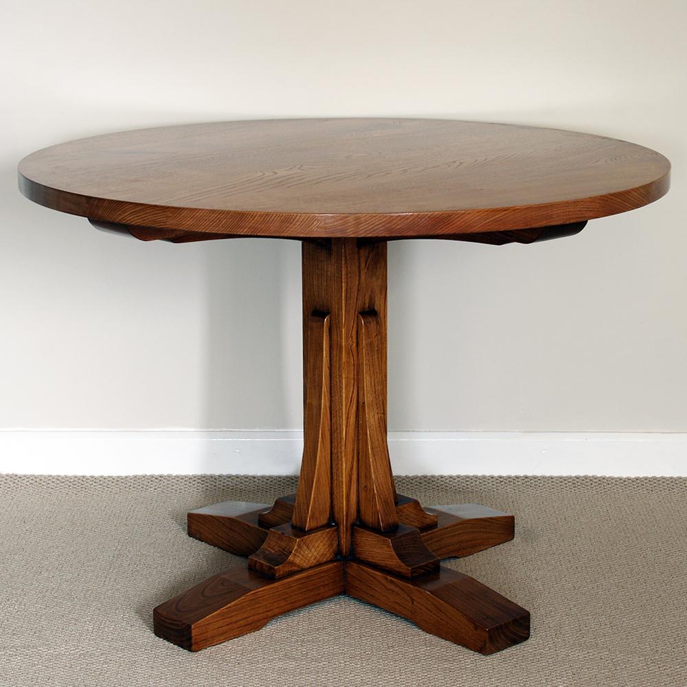 A bespoke chestnut breakfast table