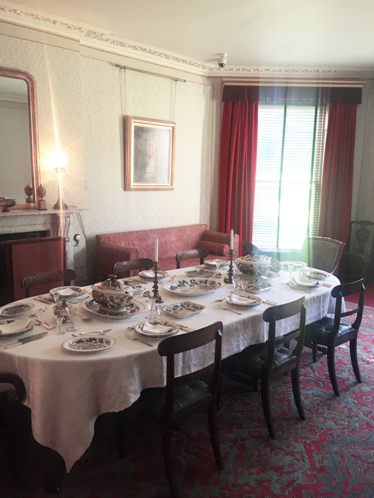 The Darwin dining room