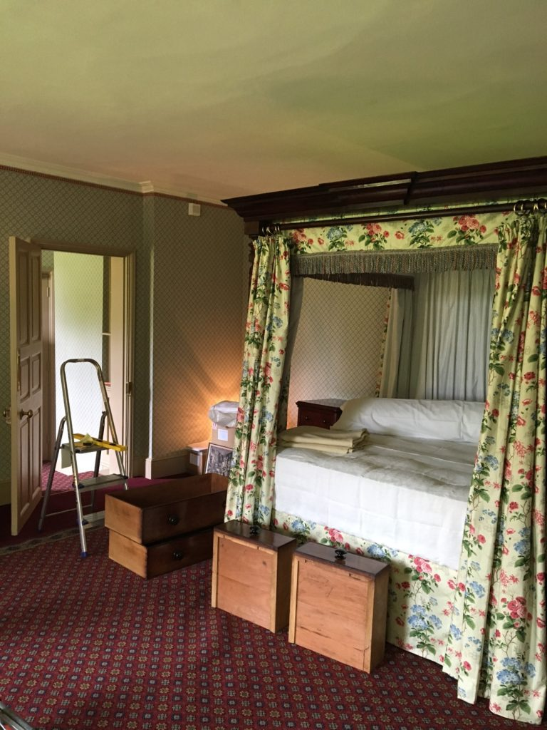 The bedroom being dressed ready for its launch this summer