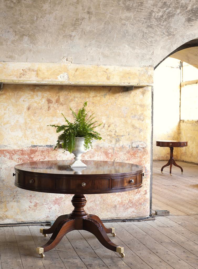 Mahogany round table
