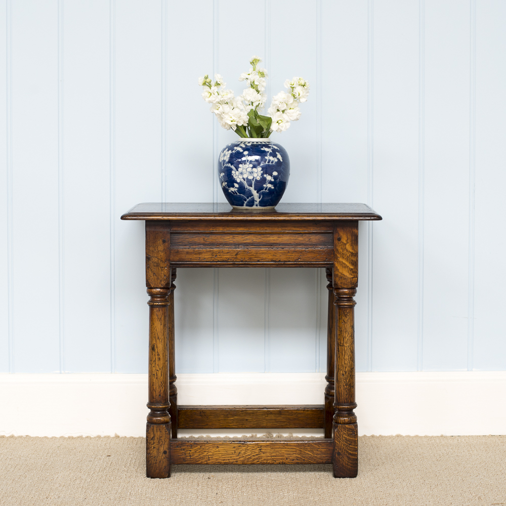 Wooden side table handmade