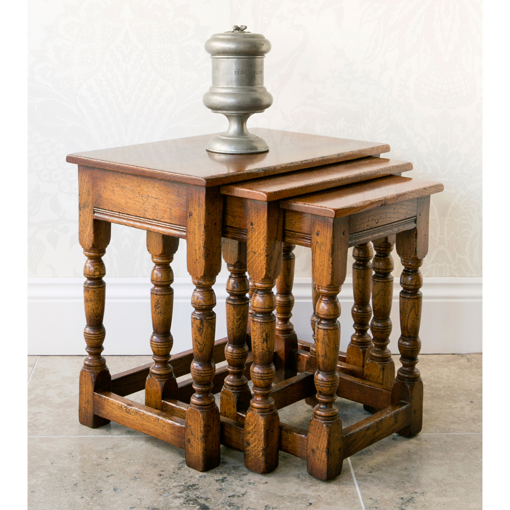 English Oak Nest of Tables