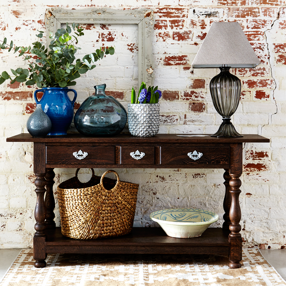 English Oak Console Table