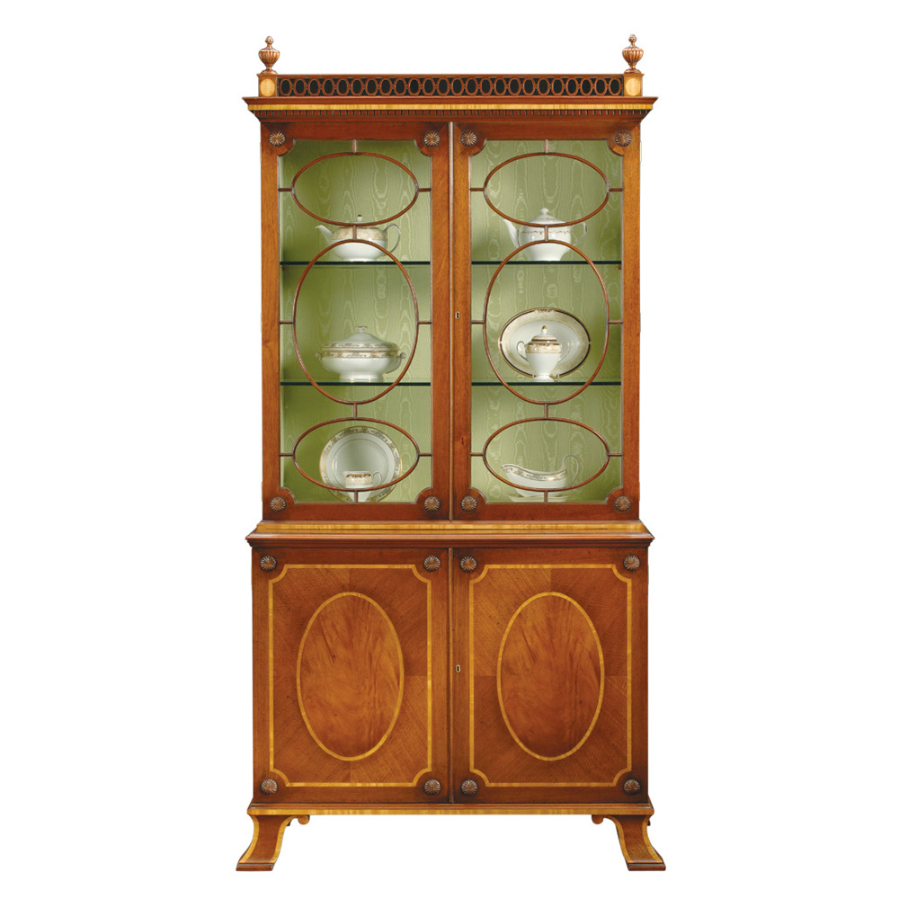 Mahogany Display Cabinet with fine Satinwood banding