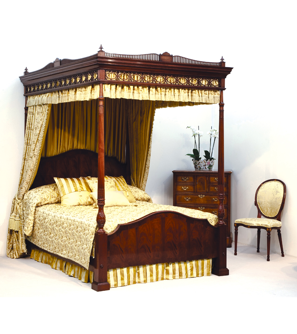 Mahogany Four Poster Beds For Sale