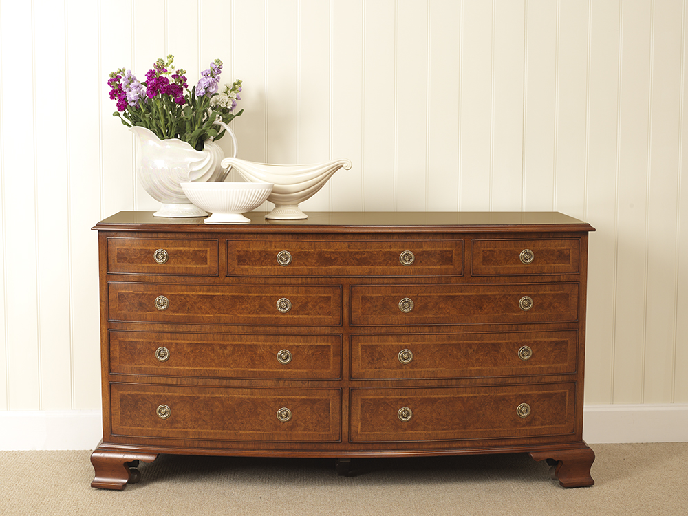 Double walnut chest of drawers