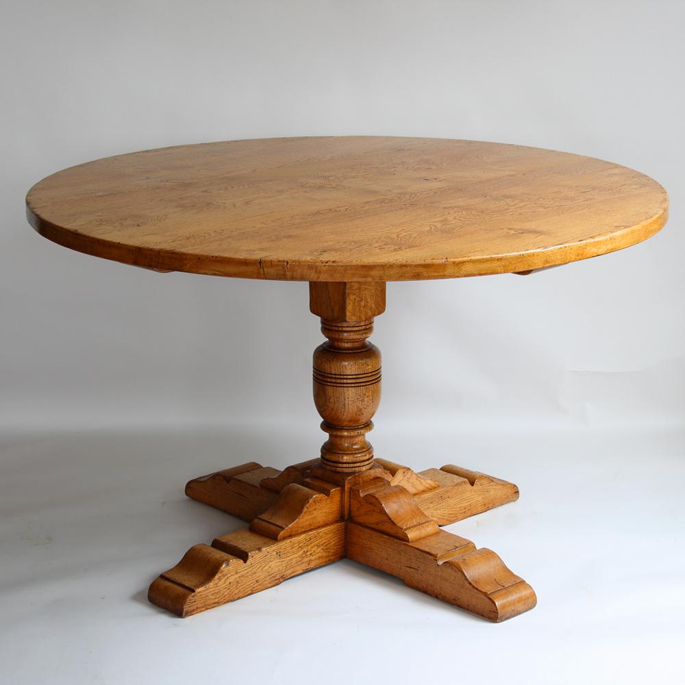 English Oak Round Table