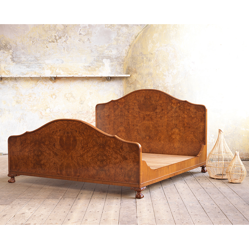 Giant-size walnut bed, shot on location at the Landguard Fort in Felixstowe