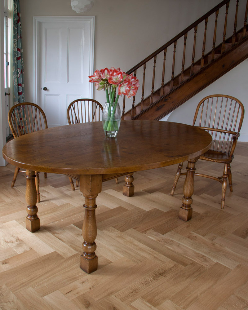 Oval Oak Table and Chairs