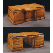 Walnut Chairman's Desk with slides and modesty panel 2