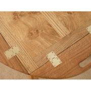 Oak side table up close