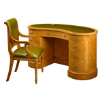 Kidney Shaped Desk Bankers Chair