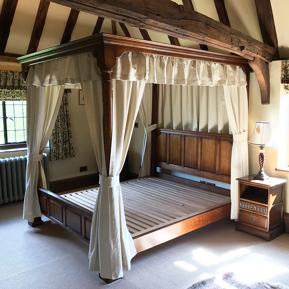 English Oak Four Poster Bed