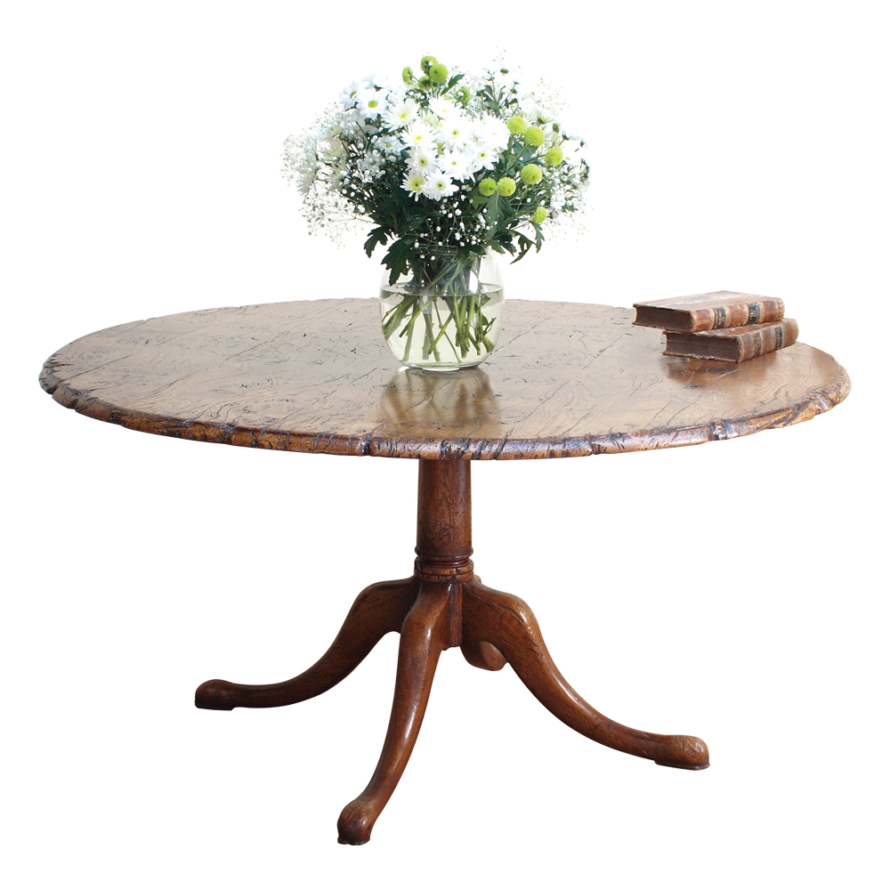 English Epicormic Oak Circular Table