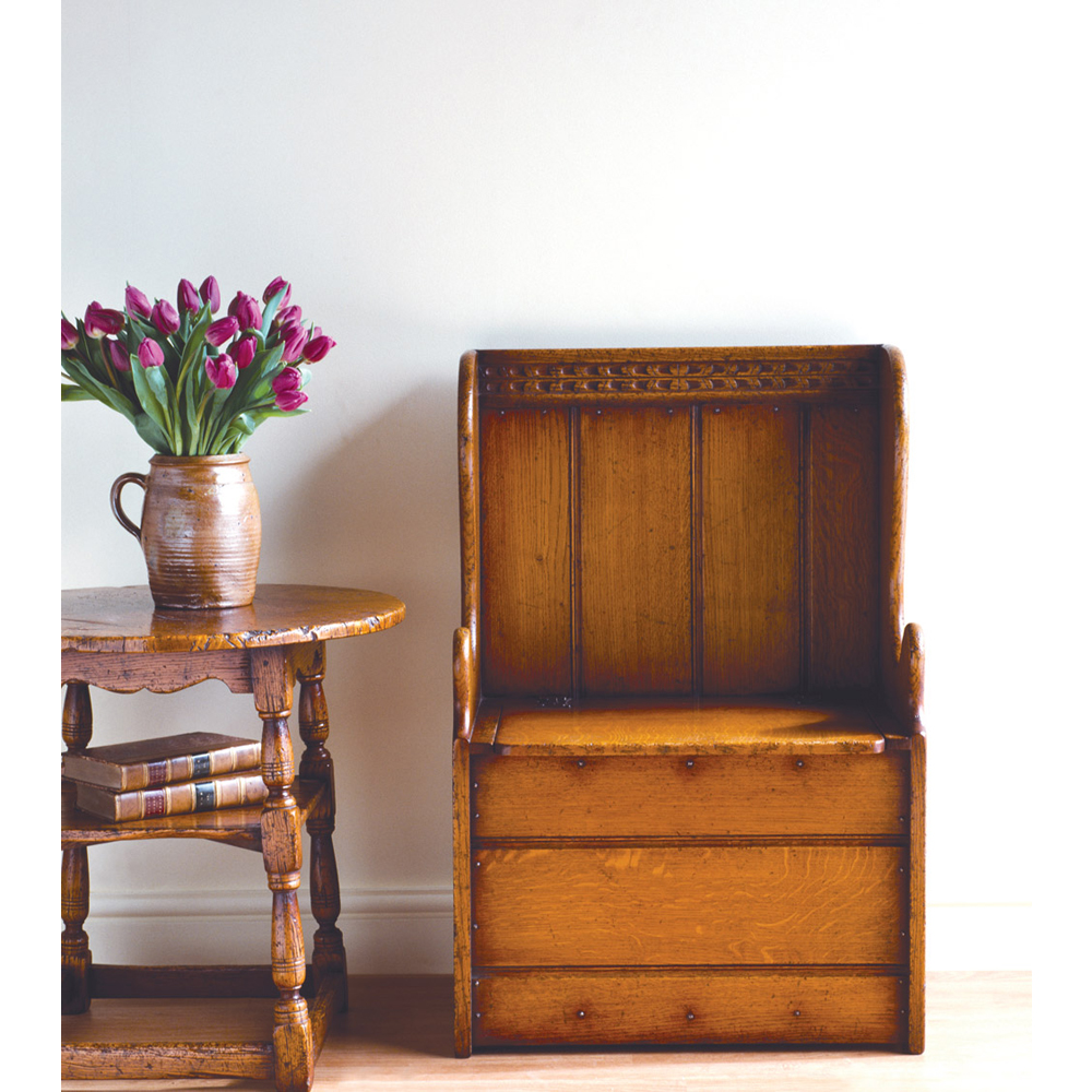 english oak box settle titchmarsh goodwin. Black Bedroom Furniture Sets. Home Design Ideas