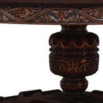 Elizabethan style circular table