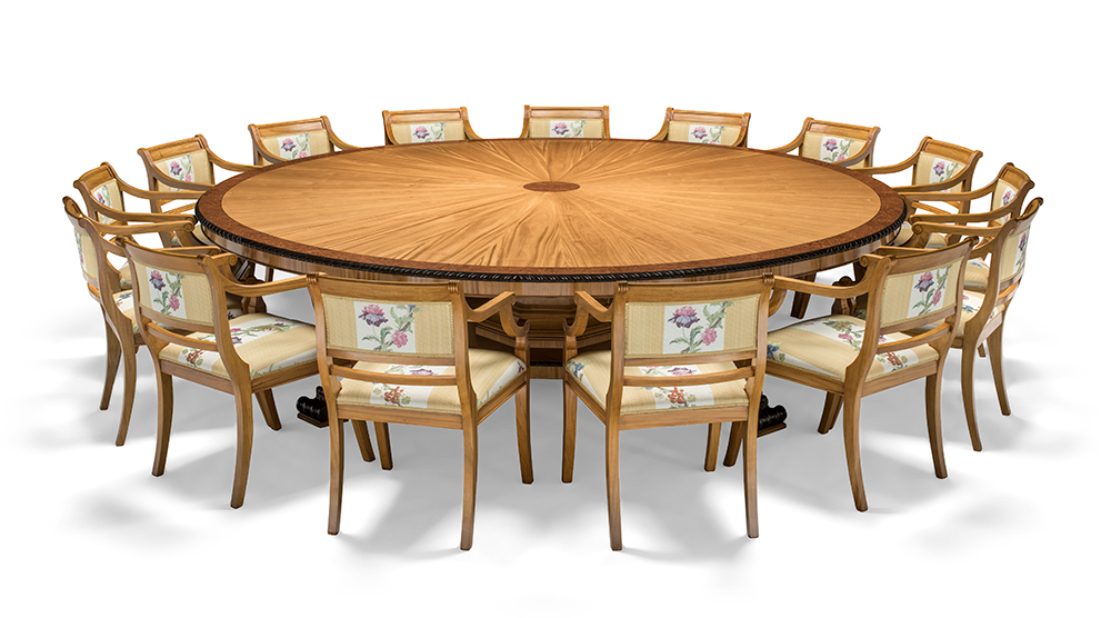 Our Circular Boardroom Table With 15 Chairs