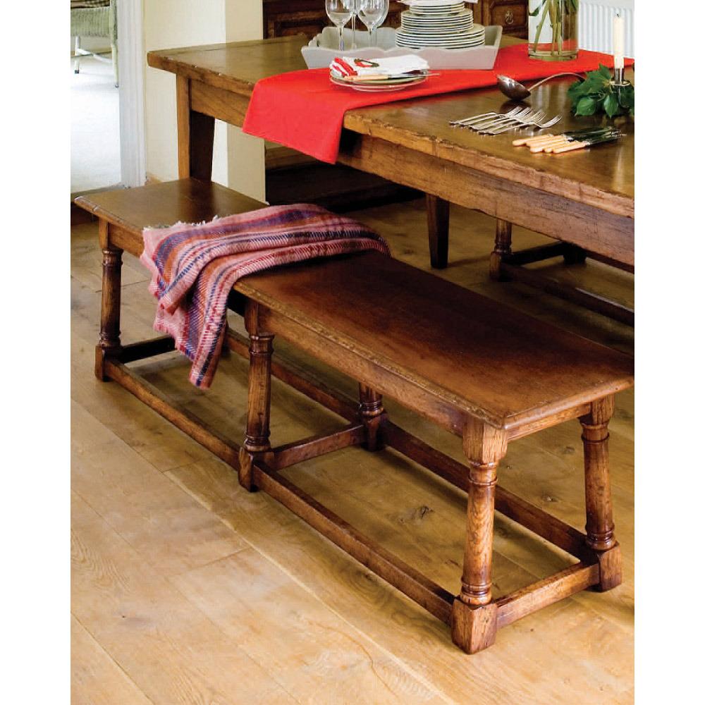 English Oak Farmhouse Kitchen Bench