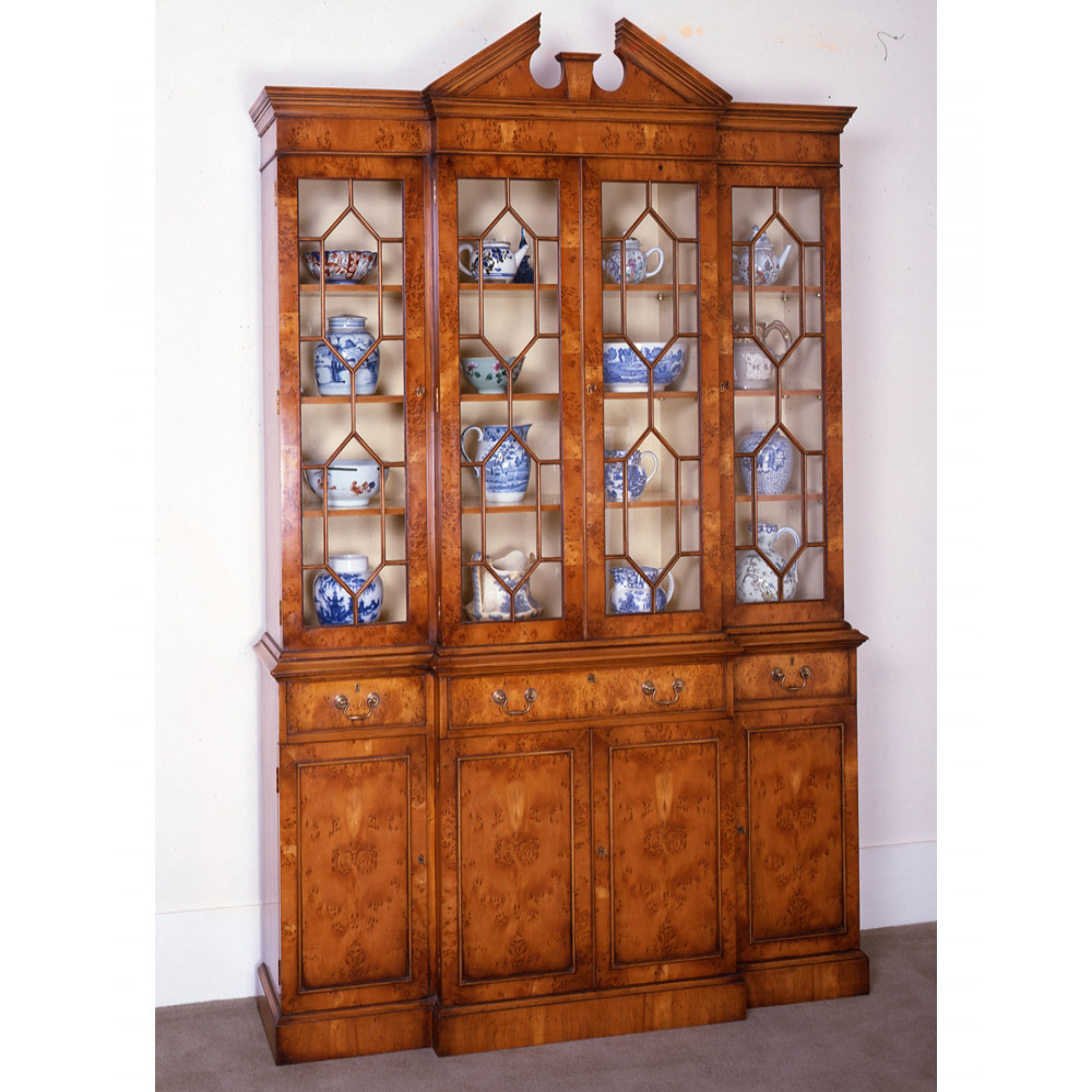 Yew Tree Breakfront Bookcase