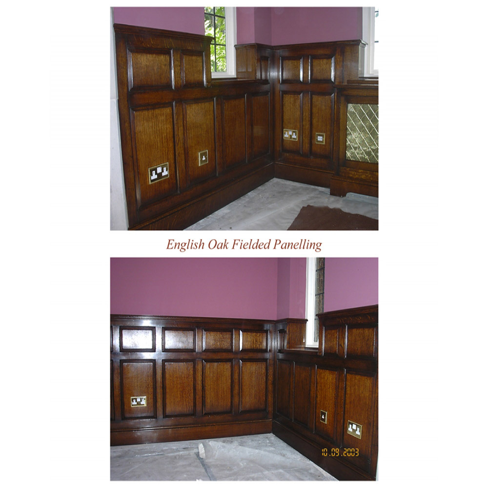 English Oak Fielded Panelling