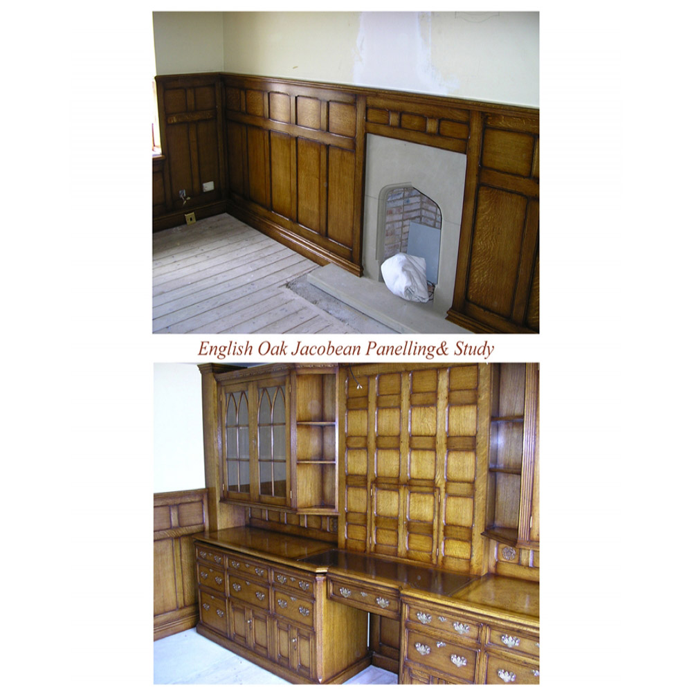 English Oak Jacobean Panelling and Study
