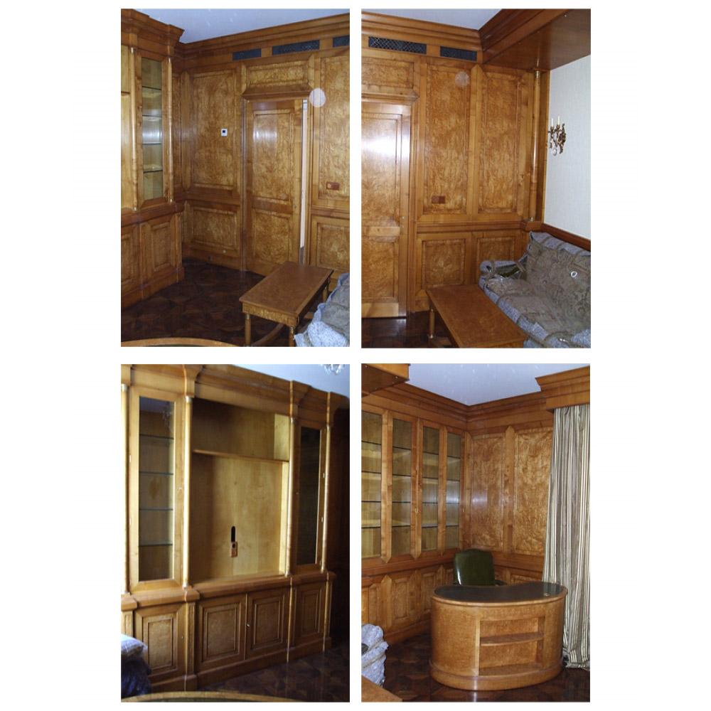 Karelian Birch Panelling & Fitted Furniture