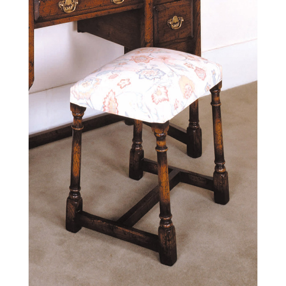 English Oak Dressing Table Stool