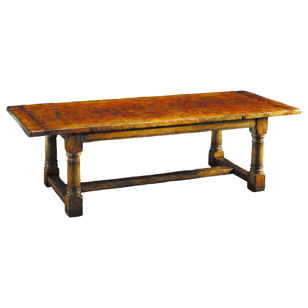 English Epicormic Oak Refectory Table