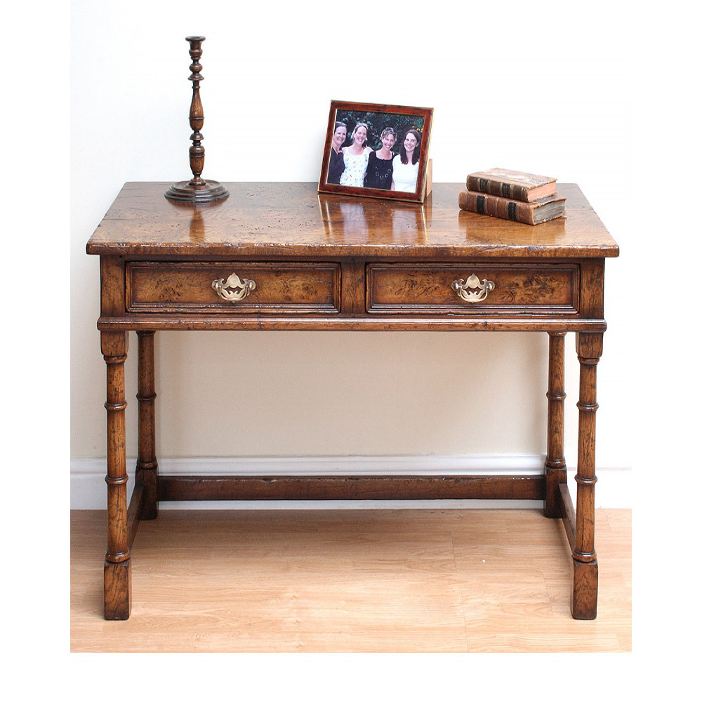 English Epicormic Oak Writing Table