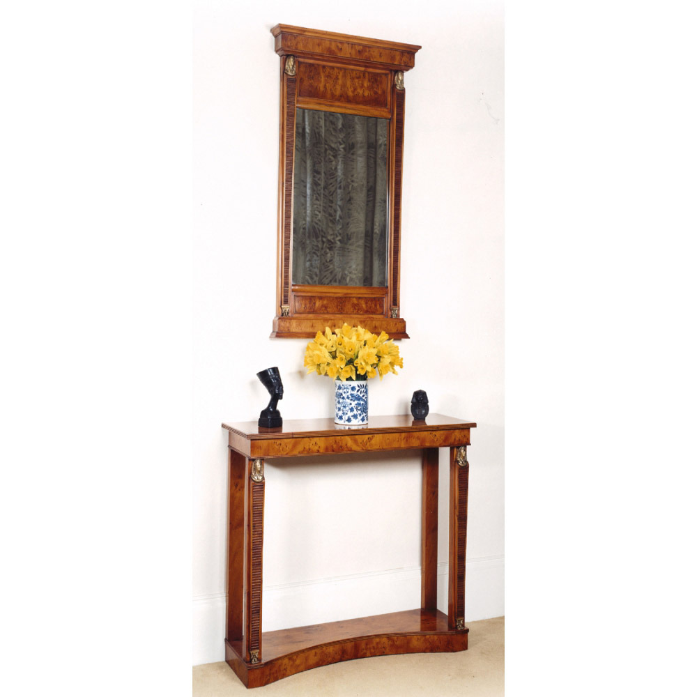 Yew console table yew pier mirror titchmarsh goodwin for Yew sofa table