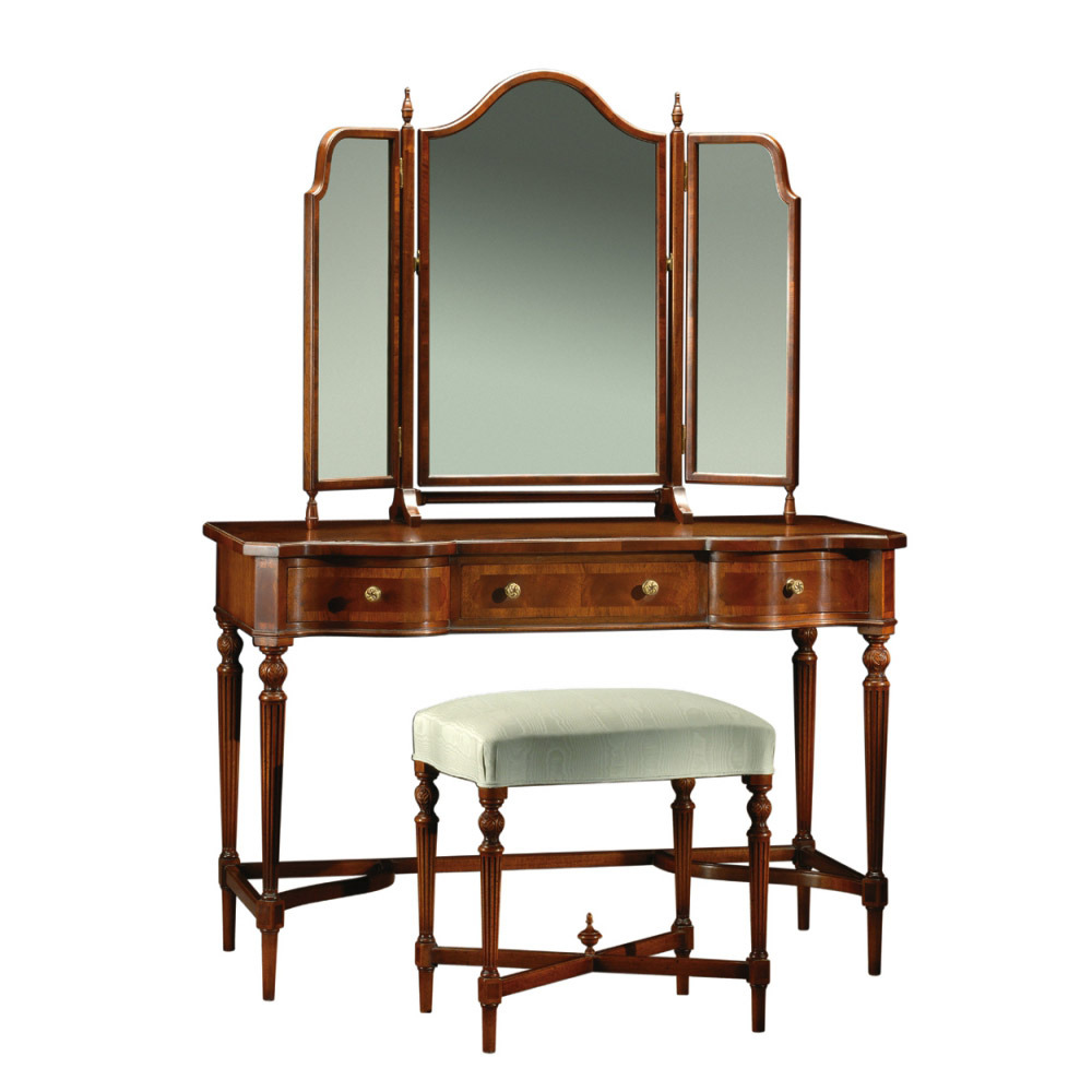 Mahogany Dressing Table, Dressing Stool & freestanding Triple Mirror