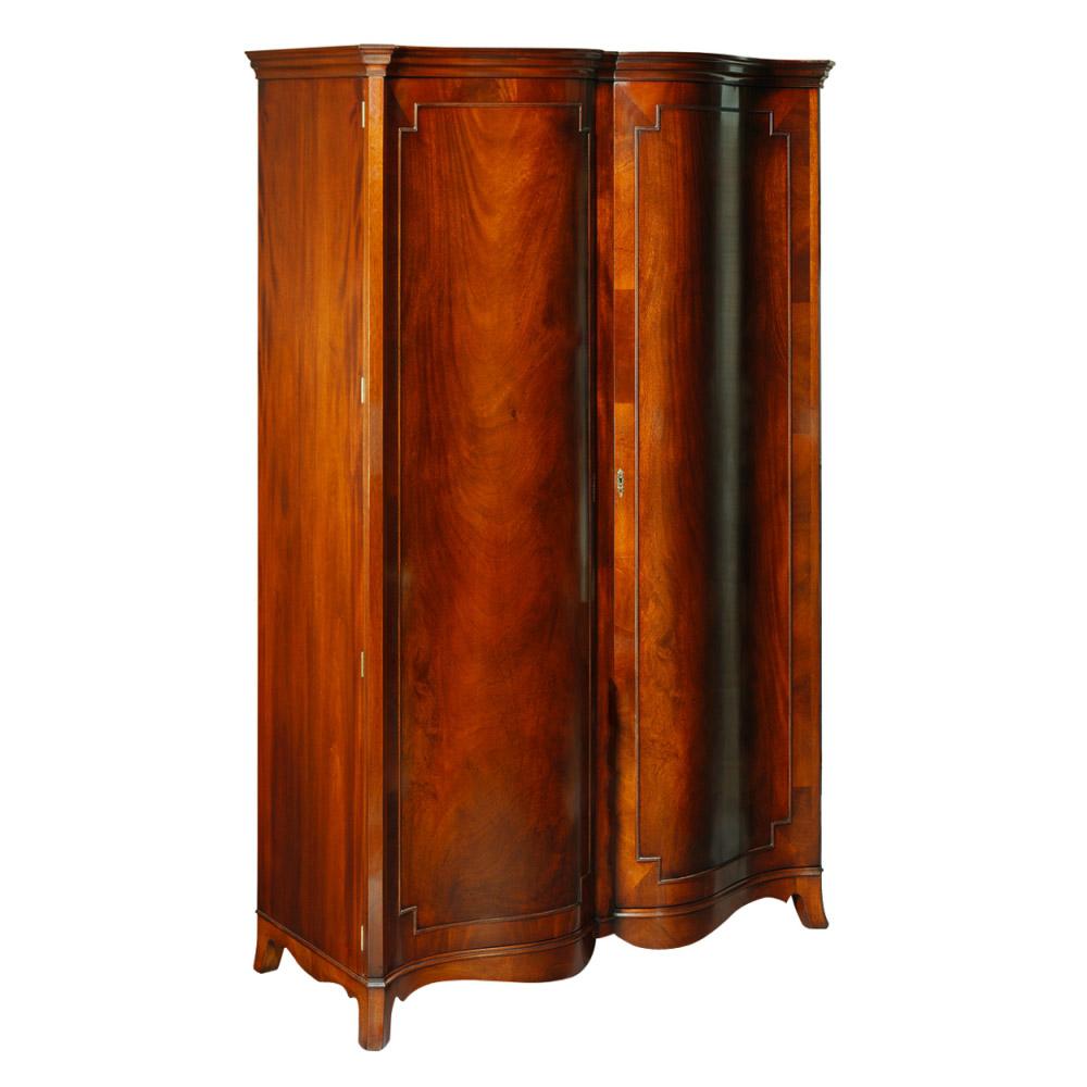 Mahogany 2-Door Wardrobe