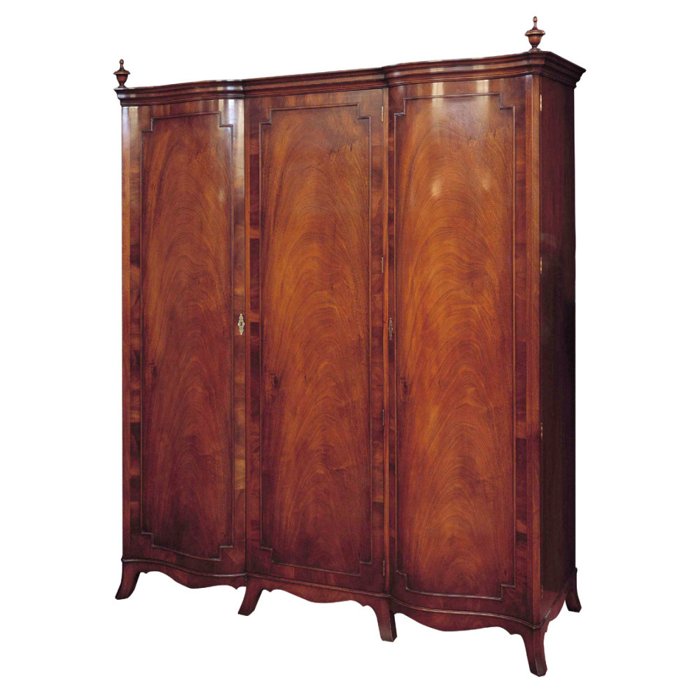 Mahogany 3-Door Wardrobe