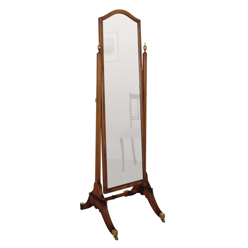 Mahogany cheval mirror titchmarsh goodwin for Cheval mirror