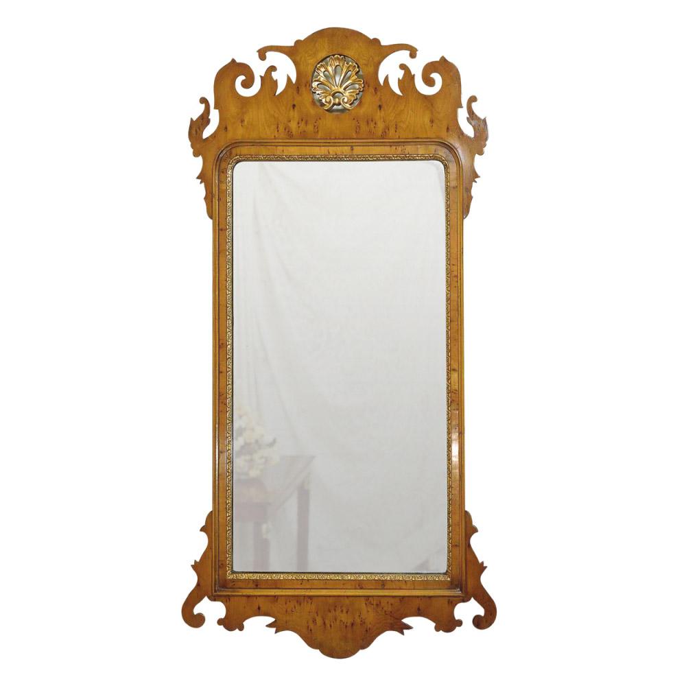 Yew & Gilt Pier Mirror