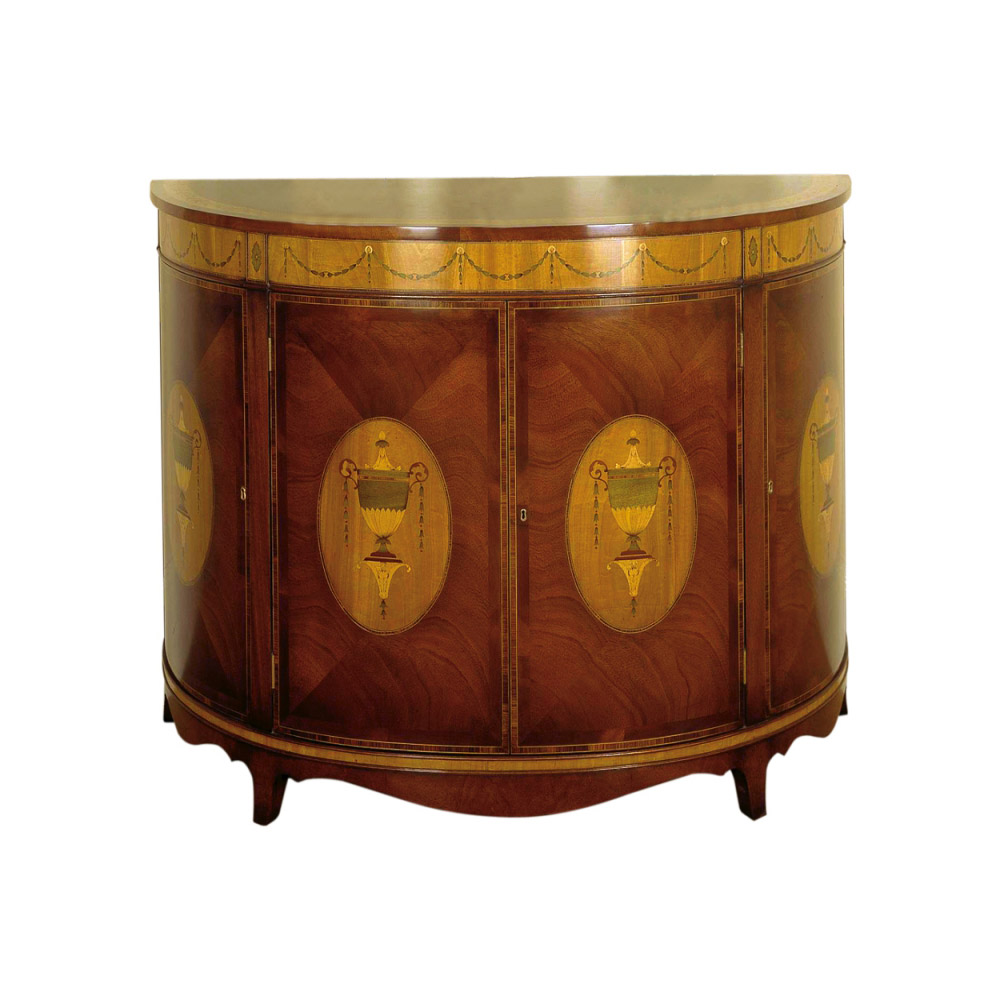 Mahogany & Satinwood Marquetry Commode