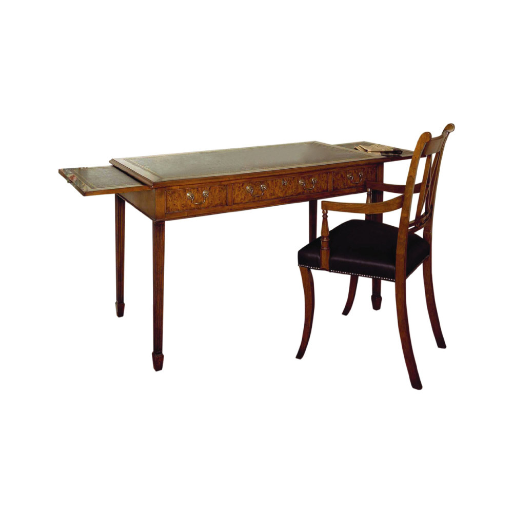 Yew Writing Table & Armchair