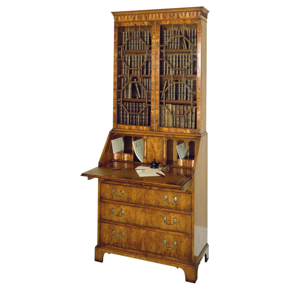 Yew Bureau Bookcase
