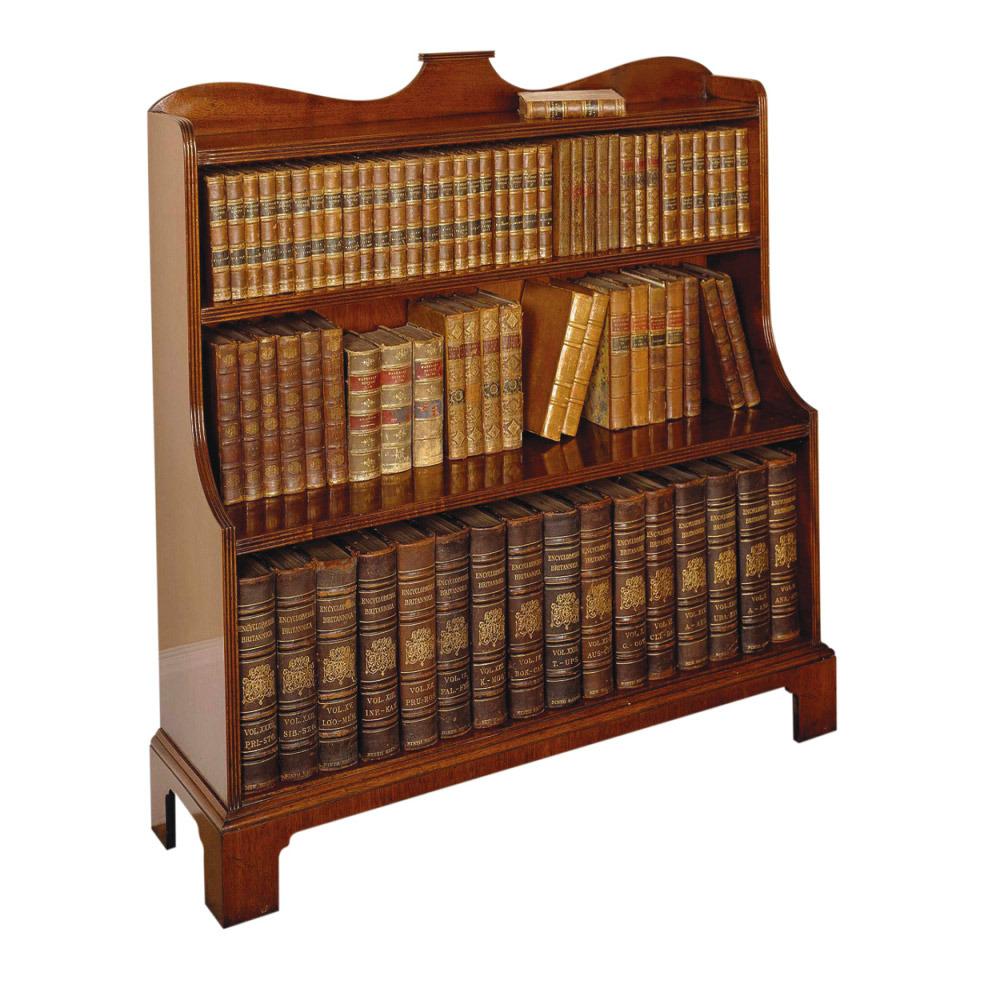 Mahogany Waterfall Bookcase