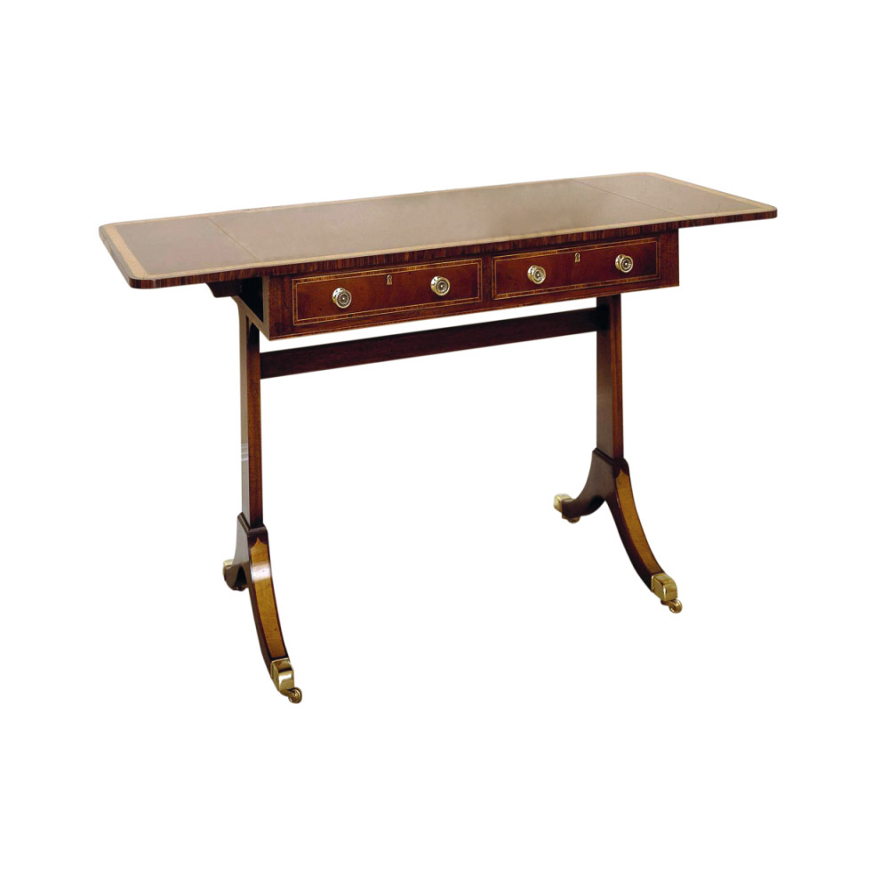 Mahogany Sofa Table with Satinwood Crossbanding