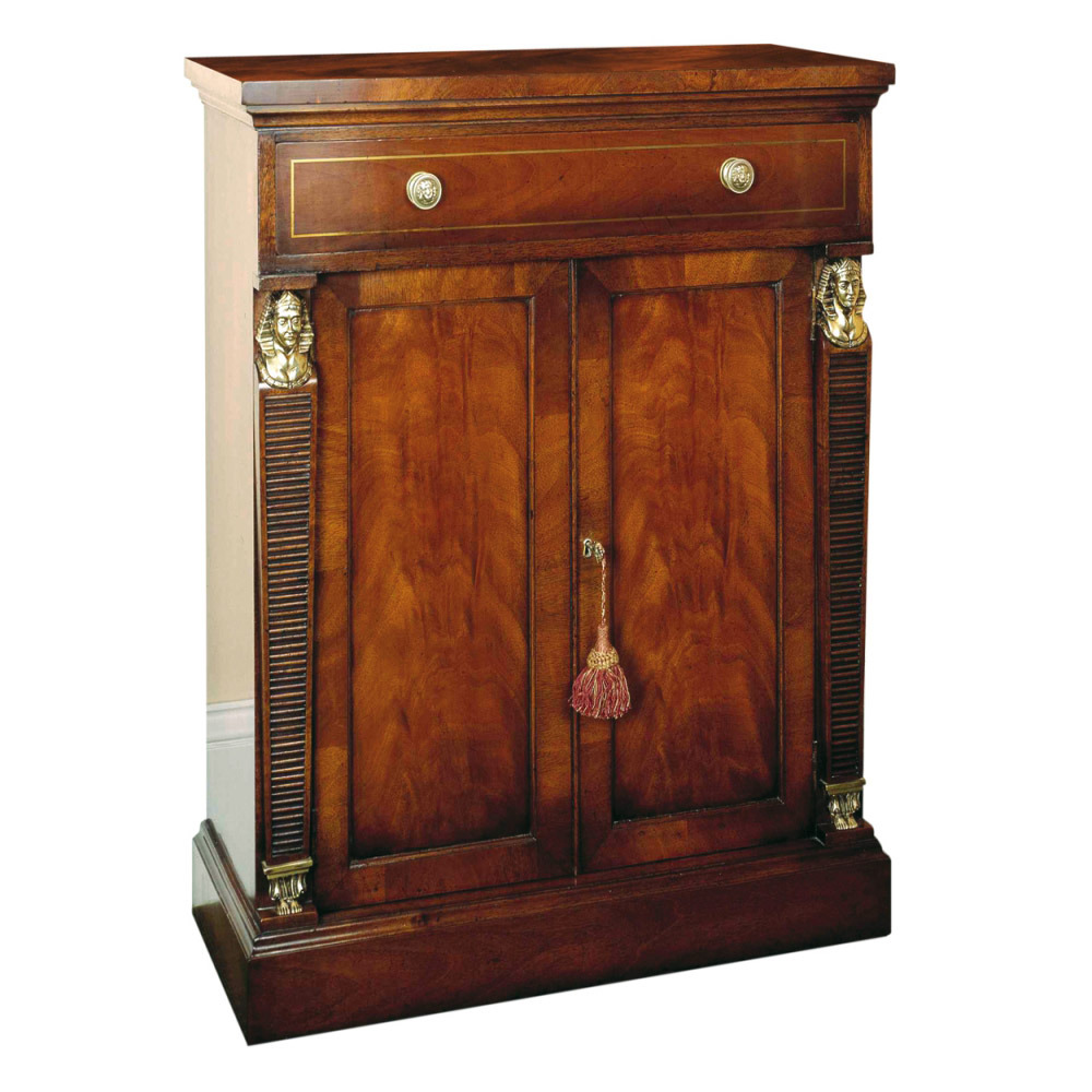 Mahogany Empire Side Cabinet