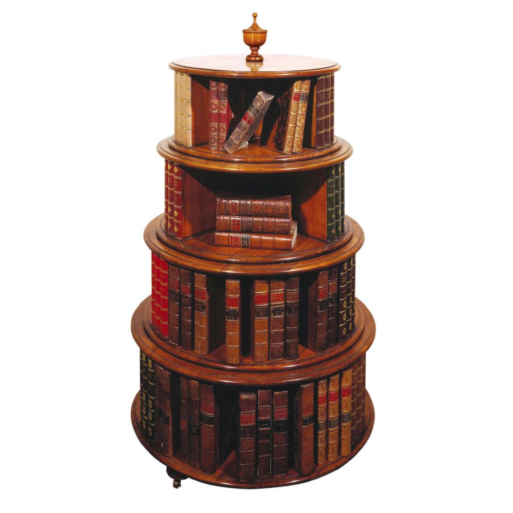 Mahogany Revolving Circular Bookcase