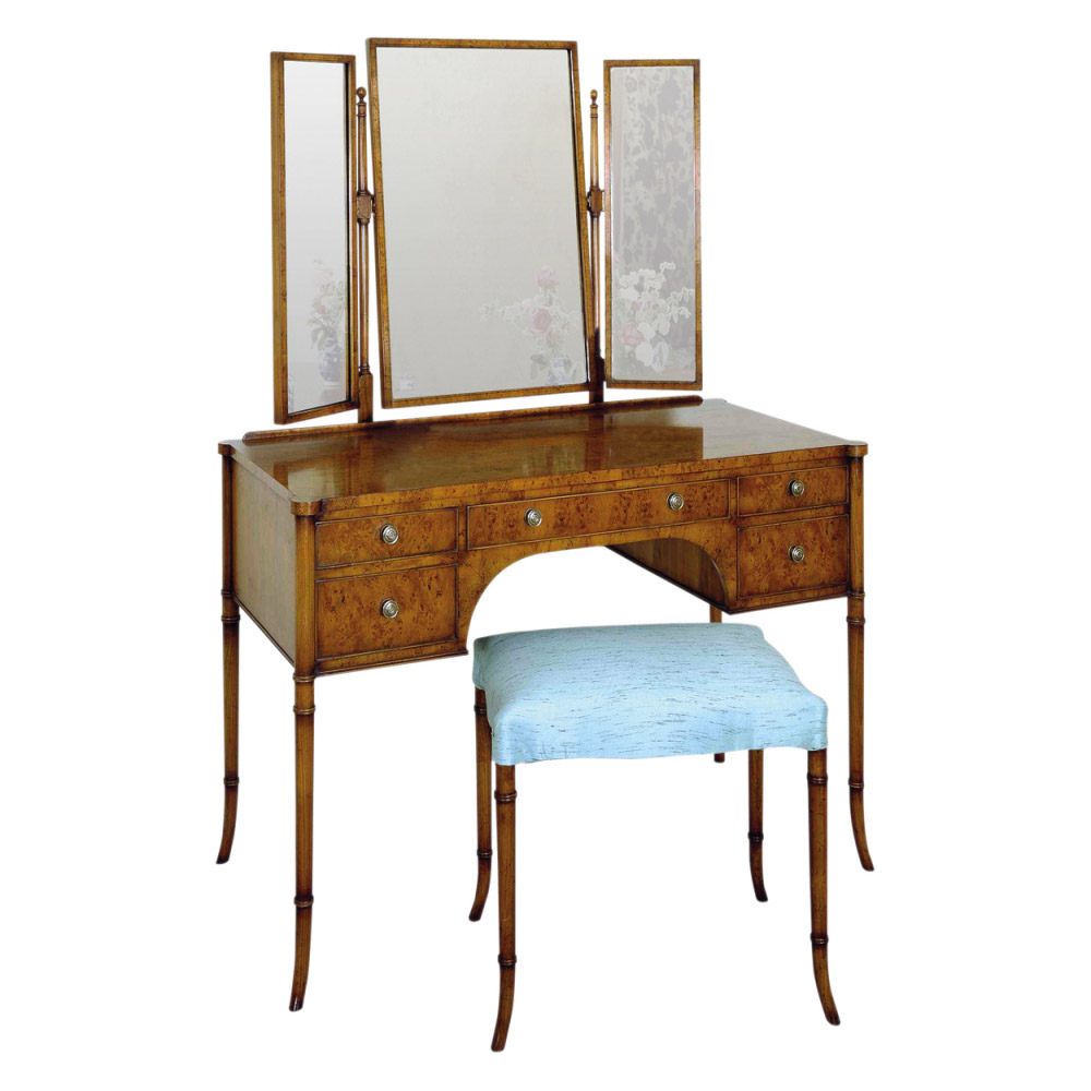 Yew Dressing Table & Yew Dressing Stool