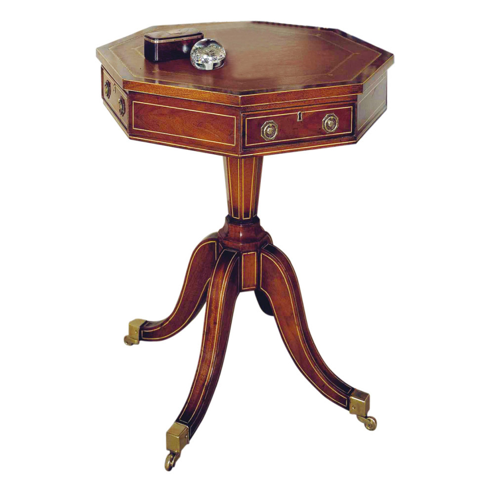 Mahogany Octagonal Drum Table