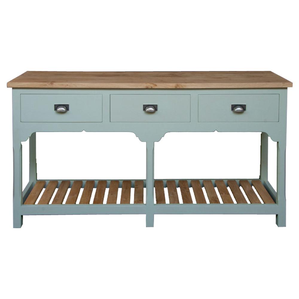 Painted Oak Dresser Base