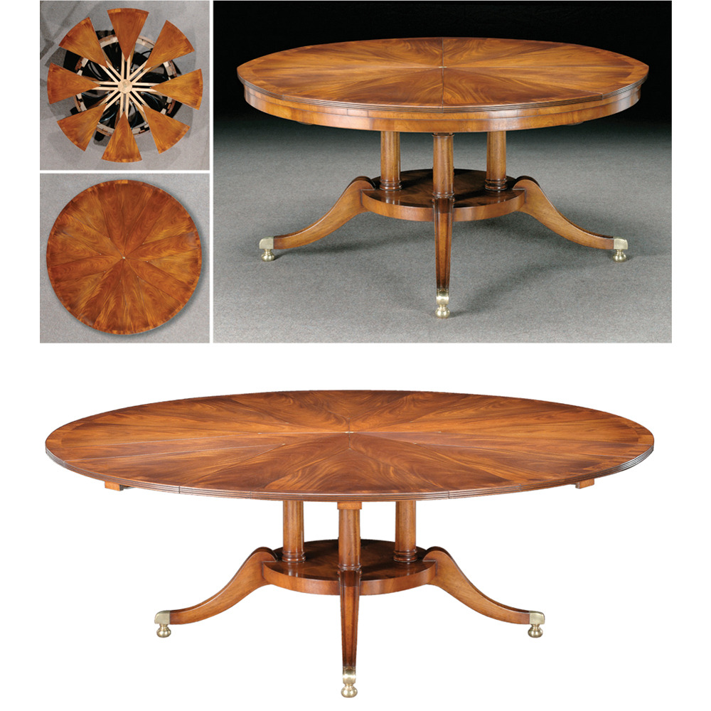 Mahogany Radial Extending Table