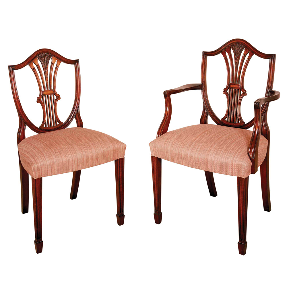 Mahogany Hepplewhite Shieldback chair