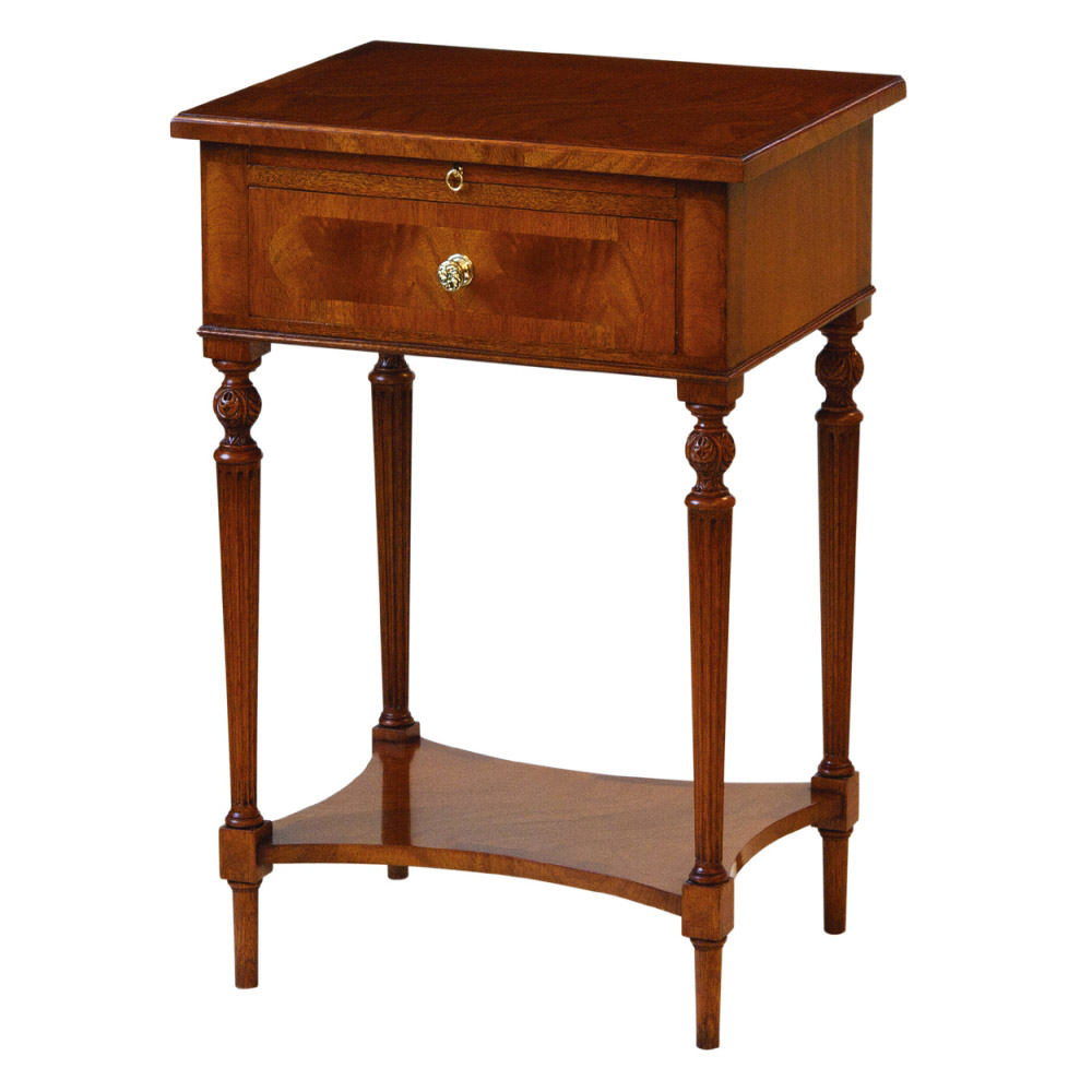 Mahogany Bedside Table with Slide