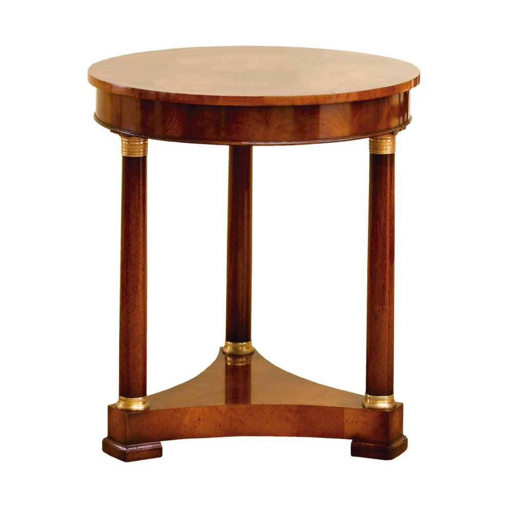 Mahogany Empire Circular Lamp Table